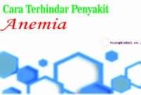 cara terhindar penyakit anemia