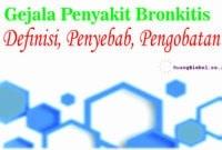 gejala penyakit bronkitis