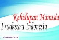 kehidupan manusia praaksara di indonesia